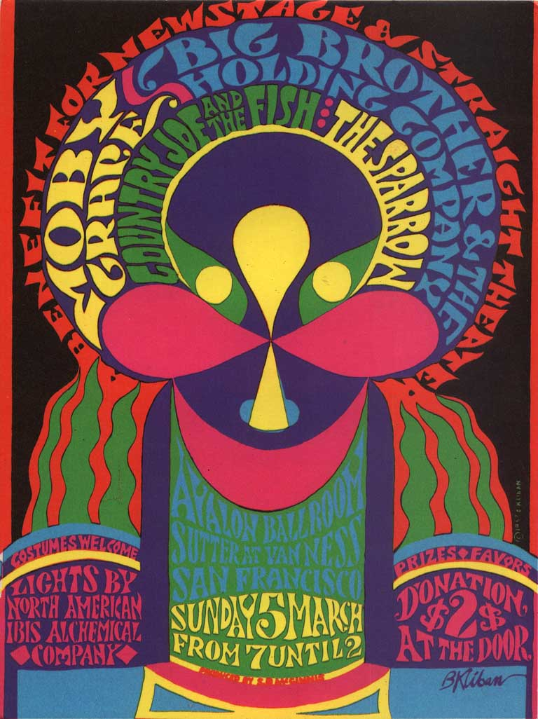 1960s Design 1960s psychedelic posters