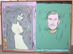 Warhol - Madonna And Self-Portrait With Skeleton1s Arm (after Munch)