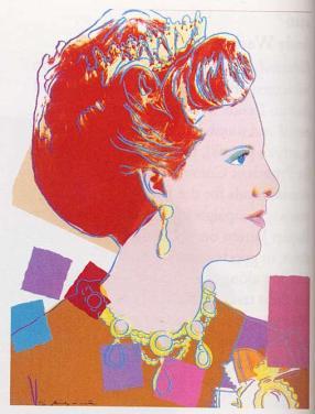 Warhol - Queen Margrethe Ii Of Denmark