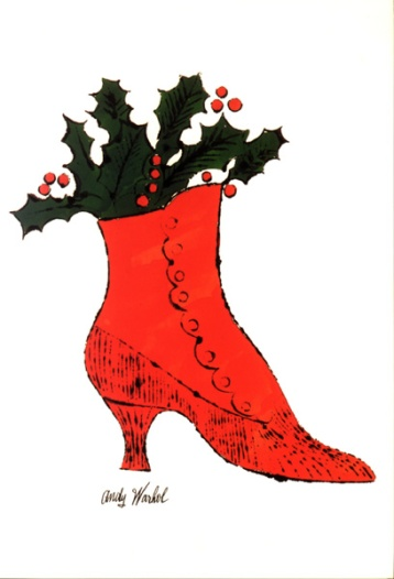 Warhol - Untitled (red Boot Wit Holly)